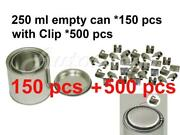 1/2 Pint 250 Ml Empty Metal Paint Can 150 Cans And Lids With Lock Clips 500pc