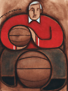 Tommervik Abstract Bobby Knight Indiana Hoosiers College Basketball Portrait Art