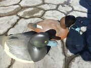 Duck Decoy Wildfowler Broadbill Pair Long Island Ny Hand Painted Scratch