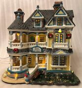 Vintage 2005 Lemax Carole Towne Christmas Village • Anabel's Bed And Breakfast