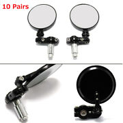 Big Sale 10 Pairs Motorcycle Side Mirrors For Cafe Racer Clubman Bobber Foldable