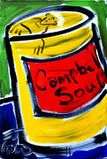 A Favorite Andy Warhol Campbell Soup Ej Gold Original Signed Painting