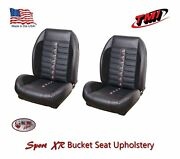 Sport Xr Front Bucket And Rear Bench Seat Upholstery 1968 - 69 Mustang Convertible