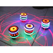 Novel Led Spinning Colorful Top Peg-top With Music Song Toy Outdoor Game