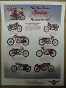 Poster Vintage New Team Indian Matchless Series Motorcycles 1960 Ad Literature