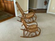 Rare Vintage Thonet Style Adult And Child Rocking Chair