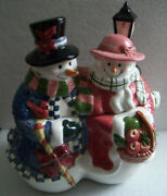 Christmas Snowman 11 Inches Cookie Jar