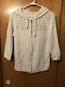 American Eagle•light Weight Zip Hoodie•with Silver Studs•size Small•