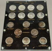 1958-1965 Israel Commemorative Coinage 16 Piece With Boat Set Capitol Plastic