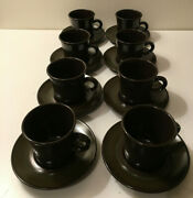 8 Sets 16 Pieces Franciscan Madeira Cups And Saucers Stoneware