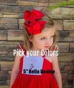 Girls Hair Bows Double Stacked Hairbows Pick Your Colors Choose 10 Big Boutique