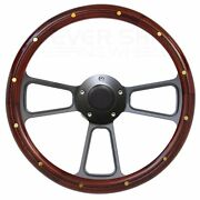 Car Or Truck With Aftermarket Gm Steering Column Mahogany Steering Wheel Kit