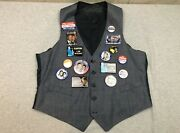 Vintage 1992 Election Bill Clinton Gore 15 Pin Button Collection Vest Hillary