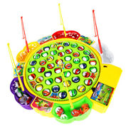 Kids Fishing Game Electric Musical Rotating Fishing Board 45 Fishes Pretend Play