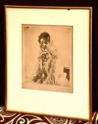 Antique Vintage Anders Zorn Swedish 1860-1920 Etching Drawing Painting Old