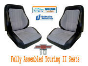 Deluxe Houndstooth Touring Ii Fully Assembled Seats 1967 - 1972 Chevy Trucks