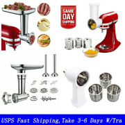 Meat Grinder And Pouring Shield Attachment For Kitchen Aid Stand Mixer 6 Wire Whip