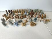 Mixed Lot 57 Of Wade Animal Figurines Made In England Porcelain Red Rose Tea A2
