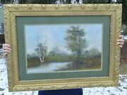 Attributed To George Cole Victorian British Artist 1810-1883 Chalk On Paper