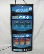 Camel Snus Sold Cold Smokeless Frost Mellow Tin Cans Empty Lighted Display Sign