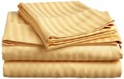 Bed Sheet Set Gold Stripe Rv Camper And Bunk Bed All Sizes 1000 Thread Count