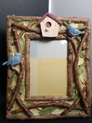 3d Bird Birdhouse Twigs Leaves Garden Outside Photo Picture Frame 3.5 X 5