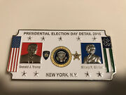 Rare Nypd And Us Secret Service Presidential Election Day Detail Challenge Coin
