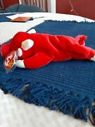 Ty Beanie Baby Snort Bull. Nwt. Tag Protector And In Case. Old P.v.c Pellets.