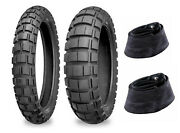 New Shinko 100/90-19 And 120/90-18 804/805 Dual Sport Adventure Tires And Tubes Set