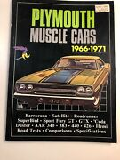 Plymouth Muscle Cars 1966-1971 By R.m. Clarke Brooklands Books Rare