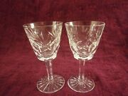 Waterford Crystal Ashling 5 3/4 In. Wine Glasses - Set/2 - Free U.s. Shipping