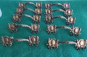 10 Very Nice Antique Solid Cast Brass Drawer Pulls 3 Inch Ctr.to Ctr. N52
