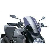 11137106 - Puig Windshield Dome Hand Windshield Accessory Compatible With Ducati
