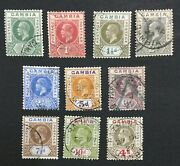 Momen Gambia Sg 108-117 1921-22 Used Lot 60002