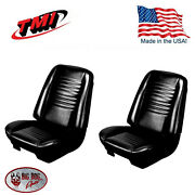 1967 Chevelle Coupe Black Bucket Seat/rear Bench Upholstery By Tmi