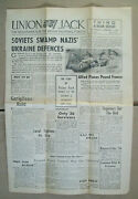 Front And Page 2 Of Jan 1 1944 Wwii Union Jack Newspaper With Red Cross Letter