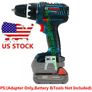 1x Milwaukee M18 Red Battery To Bosch 18v Compact Driver Tools Adapter-us Stock