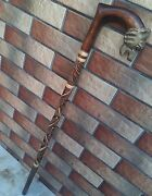 Panther Cane Walking Stick Carved Wooden Handmade Sale