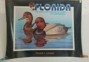 Florida 1988 Migratory Waterfowl Stamp Ronald J Louque Print 18x24 Heavy Paper