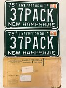 37pack Pair Of 1975 New Hampshire Vanity License Plates Tag 1937 Packard Packers
