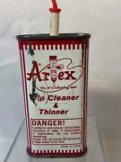 Vintage Artex Tip Cleaner And Paint Thinner Oil Can With Cap Lima, Ohio 1968