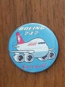 Vintage 1980's Swiss Air Boeing 747 Collectible Pin