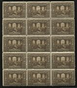 1917 Canada 3 Cents Confederation Block Of 15 Unmounted Mint Nh