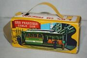 Vintage 1950's Japan Tin Litho San Francisco Cable Car Friction Toy W/ Box