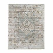 8and0393x10and0394 Gray Serrated Vintage And Erased Hand Knotted Oriental Rug G48651