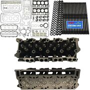 New 18mm Cylinder Heads Arp Mahle Full Gasket Set - Fits Ford Powerstroke 6.0l