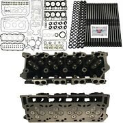 New 20mm Cylinder Heads Studs Mahle Full Gasket Set - Fits Ford Powerstroke 6.0l