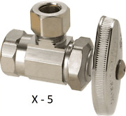 5 Brasscraft 3/8 Fip X 3/8 O.d. Compression Angle Stop Valve Lead Free