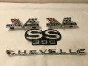 Original 1967 Chevrolet Chevelle Ss 396 Grill Fender And Trunk Emblems