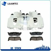 Rear Brake Calipers + Ceramic Pads For 1999 2000 2001 2002 2003 Ford F-150